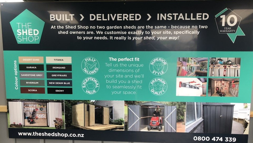 The Shed Shop Display
